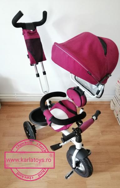Tricicleta copii Baby Care scaun reversibil - Tricicleta cu scaun 360 grade Baby Care 9