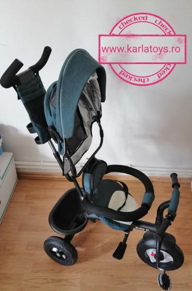Tricicleta copii Baby Care scaun reversibil - Tricicleta cu scaun 360 grade Baby Care 10