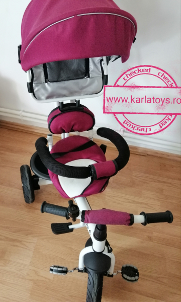 Tricicleta copii Baby Care scaun reversibil - Tricicleta cu scaun 360 grade Baby Care 6