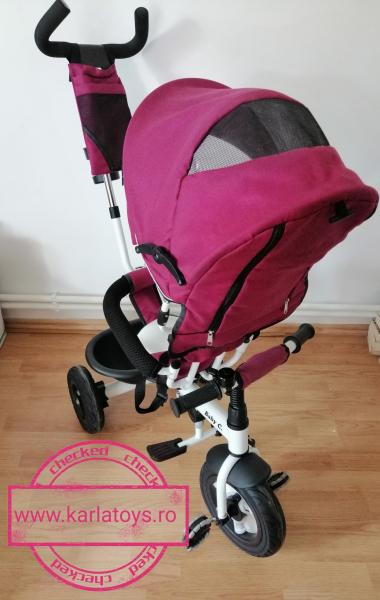Tricicleta copii Baby Care scaun reversibil - Tricicleta cu scaun 360 grade Baby Care 8