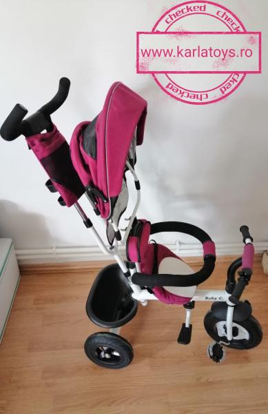 Tricicleta copii Baby Care scaun reversibil - Tricicleta cu scaun 360 grade Baby Care 1
