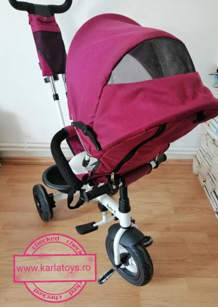 Tricicleta copii Baby Care scaun reversibil - Tricicleta cu scaun 360 grade Baby Care 7