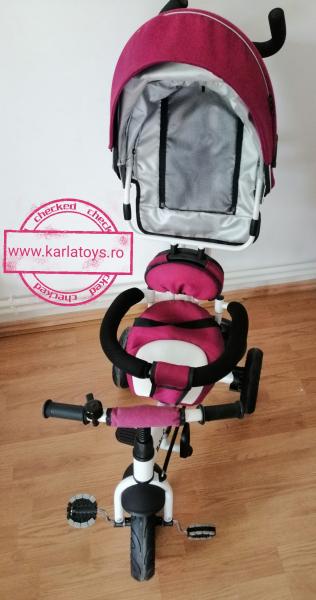 Tricicleta copii Baby Care scaun reversibil - Tricicleta cu scaun 360 grade Baby Care 2