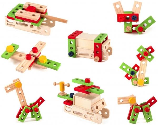 Trusa de scule din lemn cu accesorii - Set cutie de scule lemn copii 6