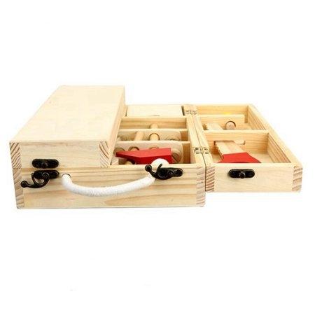 Trusa de scule din lemn cu accesorii - Set cutie de scule lemn copii 5