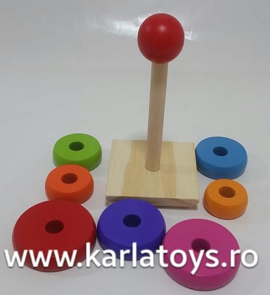Turn curcubeu din lemn cerculete 1