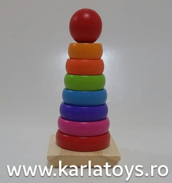 Turn curcubeu din lemn cerculete 0
