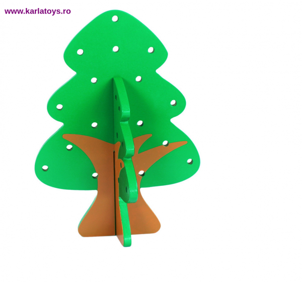 Jucarie Montessori  sa insiruim Pomul cu Fructe  din lemn 5