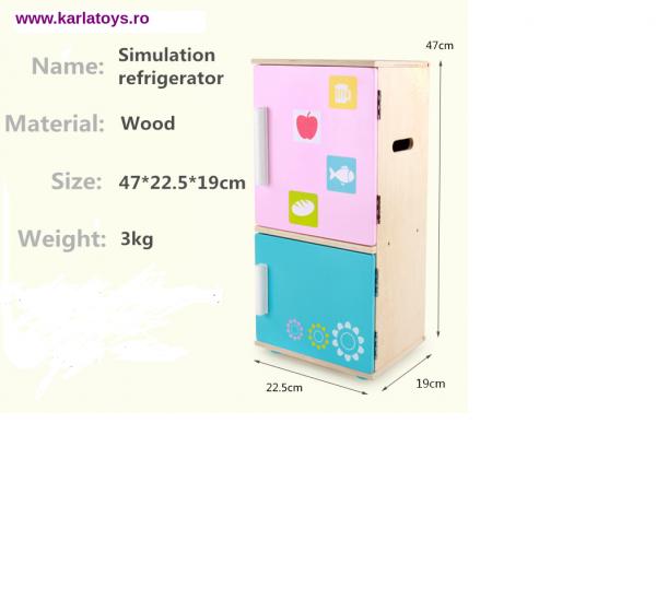 Frigider din lemn  copii cu accesorii 1