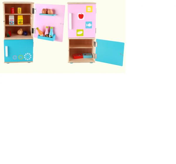 Frigider din lemn  copii cu accesorii 6