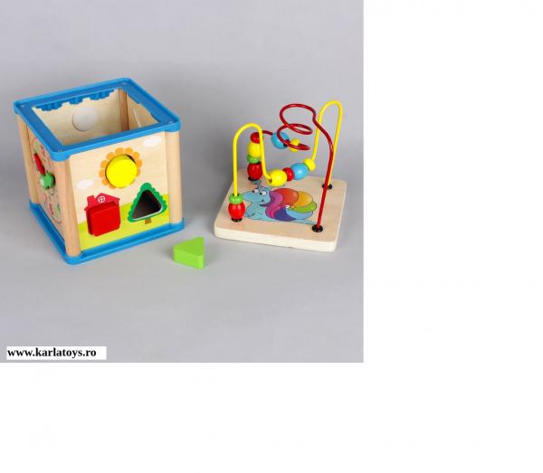 Cub din lemn 5 in 1 Wisdom Box 2