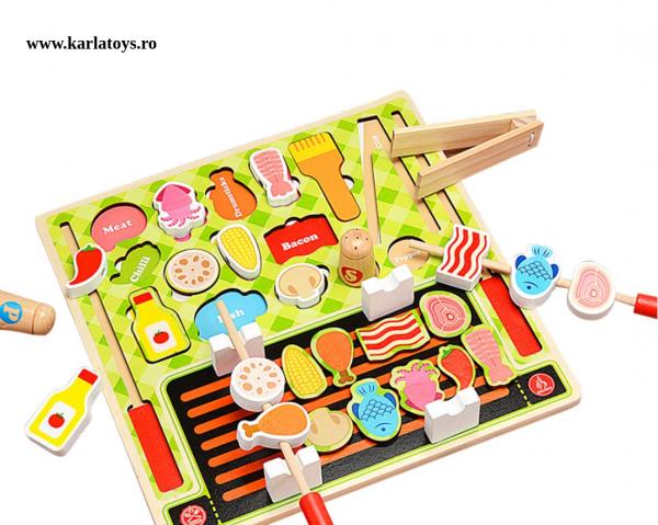 Joc din lemn copii puzzle Gratarul Barbecue Shop 1