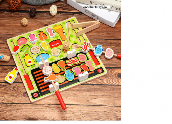 Joc din lemn copii puzzle Gratarul Barbecue Shop 0