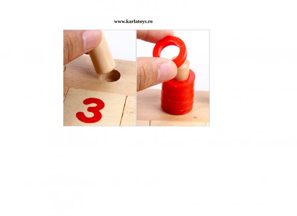 Jucarie de lemnsa invatam Logaritmi 6