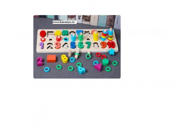 Joc din Lemn 3 in 1 Rainbow Digital Board - Joc Lemn 3 in 1 Numere 4