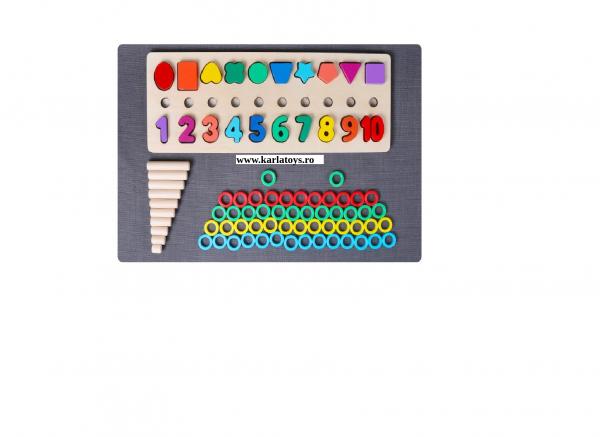 Joc din Lemn 3 in 1 Rainbow Digital Board - Joc Lemn 3 in 1 Numere 6