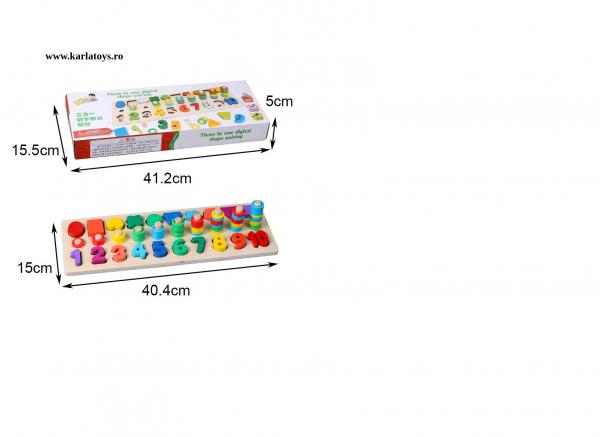 Joc din Lemn 3 in 1 Rainbow Digital Board - Joc Lemn 3 in 1 Numere 1