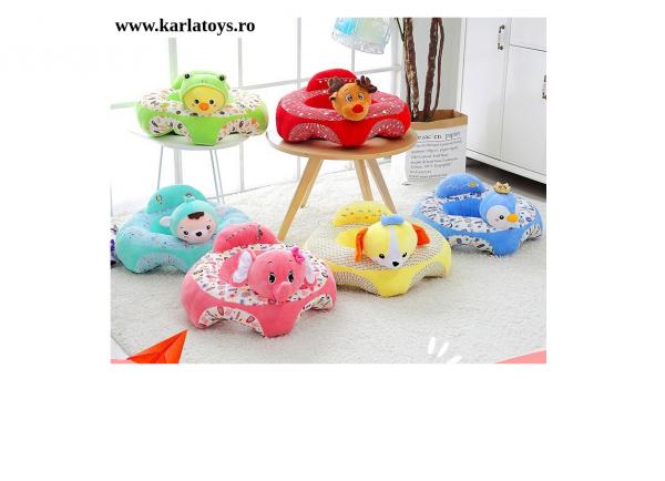 Fotoliu bebe Sit up din plus Animalute Colorate 5