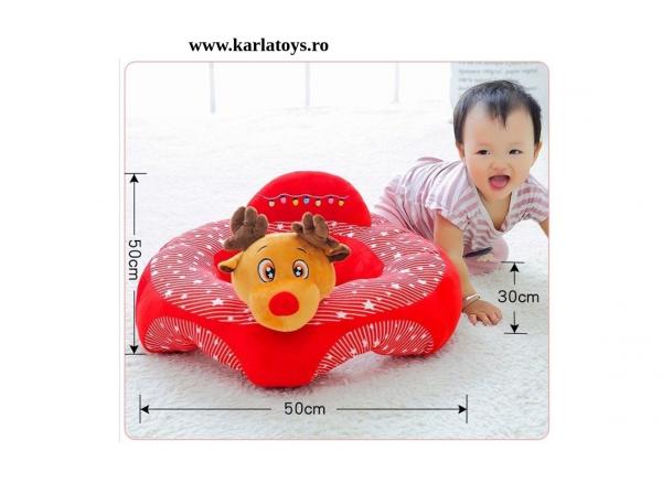 Fotoliu bebe Sit up din plus Animalute Colorate 3