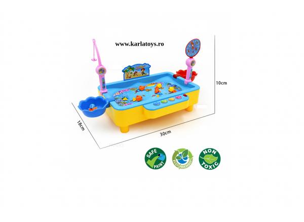 Joc de pescuit magnetic cu muzica si port USB 4