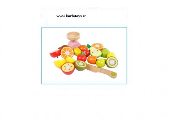 Stand din lemn copii fructe si legume de feliat Farmer 2
