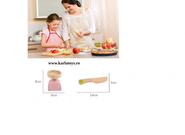 Stand din lemn copii fructe si legume de feliat Farmer 4