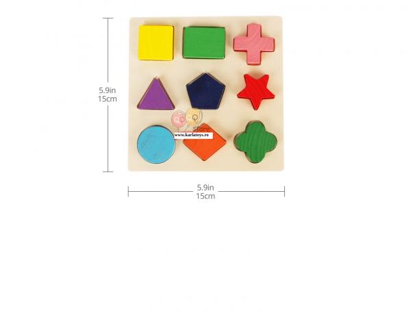 Set 2 Puzzle Sortator Forme geometrice Montessori 3D 6