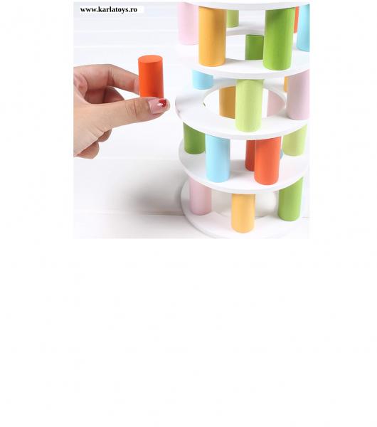 Joc din lemn Stivuire Turnul colorat Pisa Tower [7]
