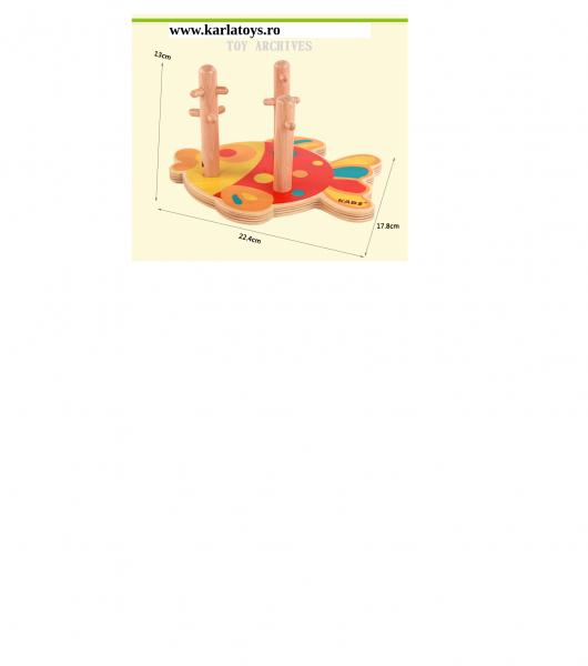Joc educativ puzzledin lemn Pestisorul Kabi 7