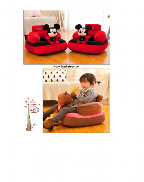 Fotoliu  plus Bebe cu spatar  sit up  Mickey sau Minnie Mouse 2