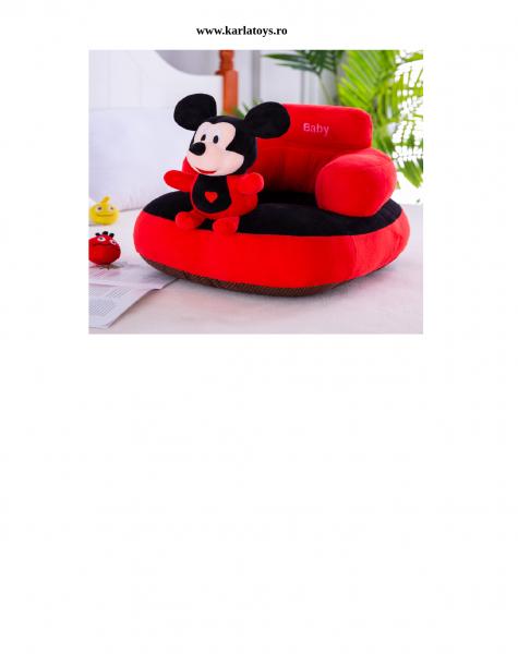 Fotoliu plus Bebe cu spatar sit up Mickey sau Minnie Mouse 0