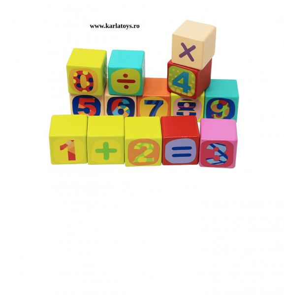 Cuburi din lemn Litere 121 piese Neowows 3