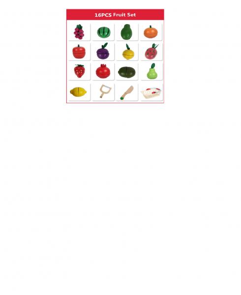 Cosulet din lemn cu fructe de feliat 16 piese 4