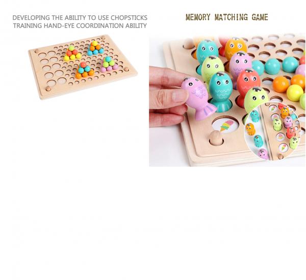 Joc Montessori din lemn sortator culori si joc de pescuit copii 1