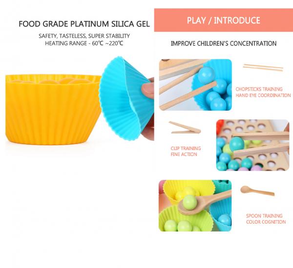 Joc Montessori din lemn sortator culori si joc de pescuit copii 4