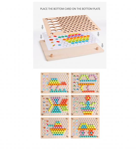 Joc Montessori din lemn sortator culori si joc de pescuit copii 5