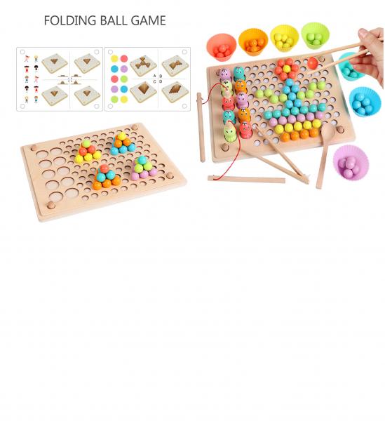 Joc Montessori din lemn sortator culori si joc de pescuit copii 6