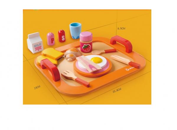 Set jucarie de lemn Micu Dejun Onshaine -Mic dejun din lemn jucarie copii 3
