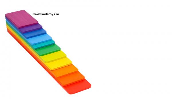 Montessori Rainbow Blocks - Placute Curcubeu 11 piese 1