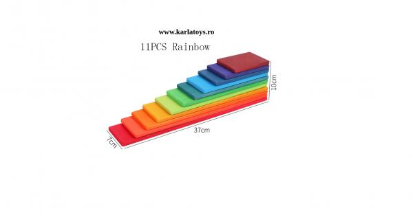 Montessori Rainbow Blocks - Placute Curcubeu 11 piese 4