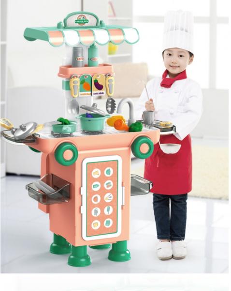 Set Bucatarie Mobila copii 2 in 1 - Autobuzul Transformabil 2 in 1 Chef 0