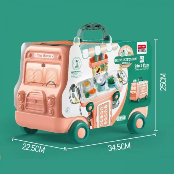 Set Bucatarie Mobila copii 2 in 1 - Autobuzul Transformabil 2 in 1 Chef 8