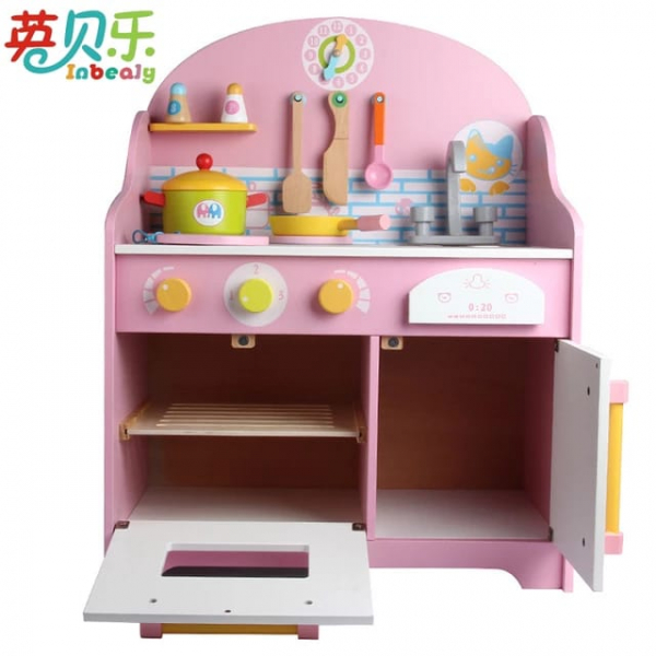 Bucatarie din Lemn pentru copii Roz - Bucatarie de jucarie din Lemn Japanese 2