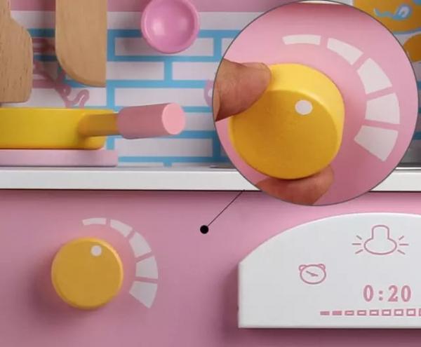 Bucatarie din Lemn pentru copii Roz - Bucatarie de jucarie din Lemn Japanese 3