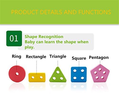 Joc lemn stivuire forme geometirce fracti si intreg 5 coloane 3