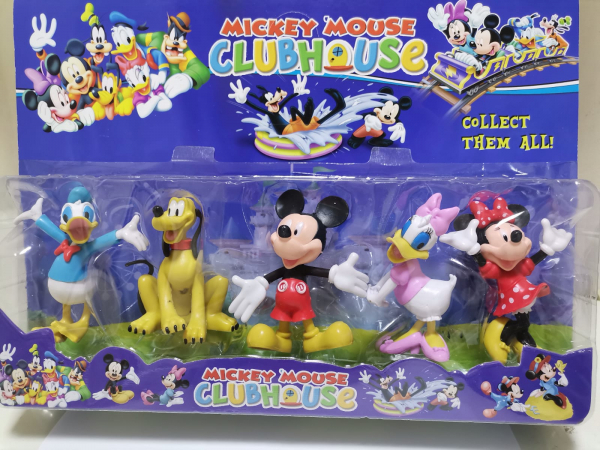 Set 5 figurine personaje Club House Mickey Mouse 0