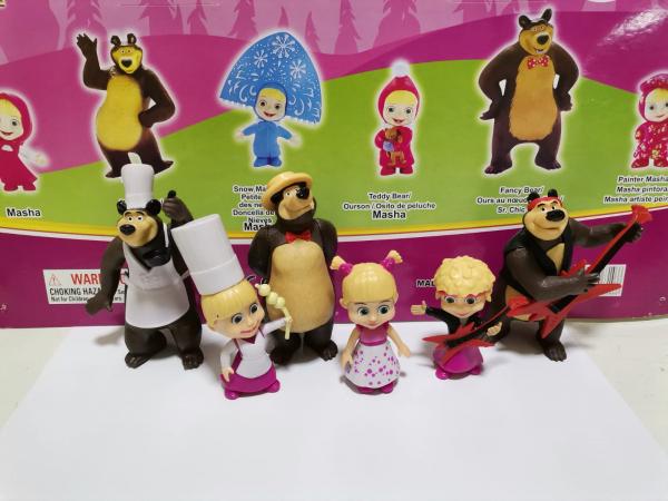 Set 6 figurine tip Masha si Ursul 2