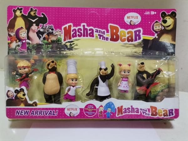 Set 6 figurine tip Masha si Ursul 0