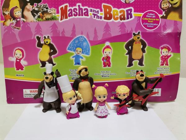Set 6 figurine tip Masha si Ursul 1