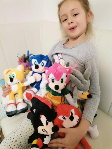 Set 6 buc Jucarii de plus Super Sonic - Set Plusuri Sonic Hedgehog 16